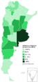 Italianos en Argentina por provincia - 2010.png