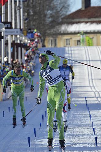 Vasaloppet - Jørgen Aukland, Norway, winning the 2013 men's event