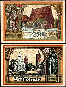 Jüterbog 25 Pfg 1920 Hl Geist Kapelle.jpg