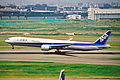 JA755A B777-381 ANA All Nippon Airways HND 11JUL01 (6902681106).jpg