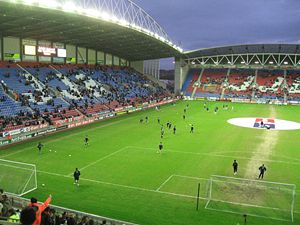 Das DW Stadium in Wigan