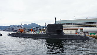 Attack-class submarine - The Sōryū-class submarine Unryū in 2014. The Japanese submarines had been widely speculated as the forerunner for the replacement project.