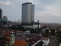 JW Marriott Hotel (dh. Hotel Westin) Surabaya, view from 9th floor Empire Palace Hotel - panoramio.jpg