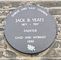 Jack B. Yeats (here lived-and-worked plaque) (cropped).jpg