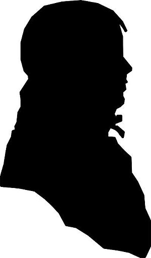 Jack Jouett - The only known depiction of Jack Jouett made while he was living, a silhouette by his son, Matthew