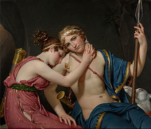 The Farewell of Telemachus and Eucharis - Image: Jacques Louis David The Farewell of Telemachus and Eucharis Google Art Project