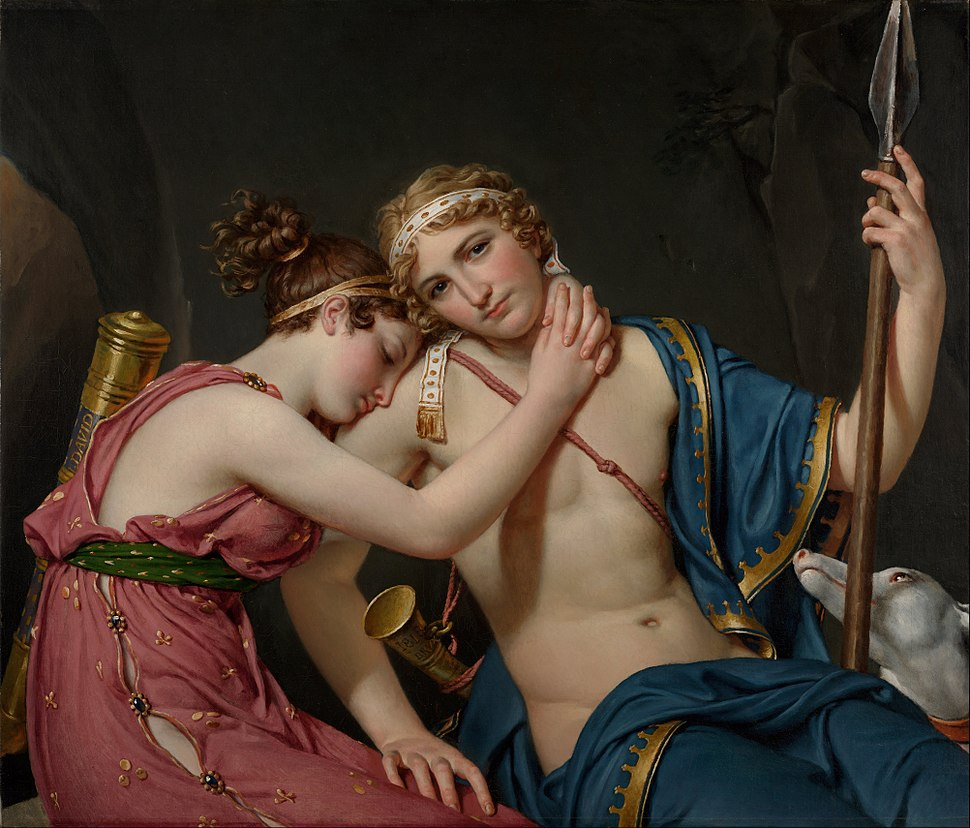 Jacques-Louis David - The Farewell of Telemachus and Eucharis - Google Art Project