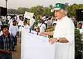 Jairam Ramesh addressing at the flagging off ceremony of the Green Walkathon, on the occasion of the World Environment Day, in New Delhi on June 05, 2011.jpg
