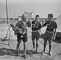 Jamboree 1963 te Marathon Griekenland Belgen met Manneke Pis van Brussel, Bestanddeelnr 915-4377.jpg