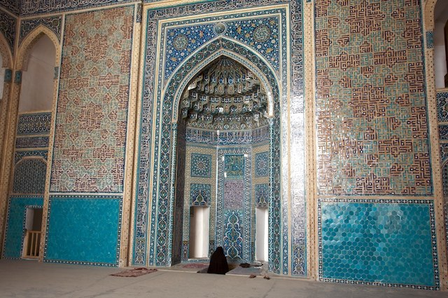 Mihrab in the Jameh Mosque in Yazd, Iran