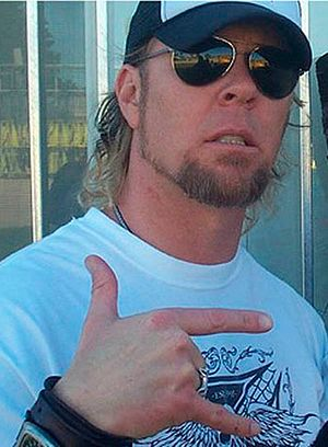 James Hetfield - Hetfield backstage at the Big Day Out 2004