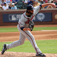 James Russell pitching in Arlington in September 2014.jpg