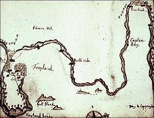 Ferryland - Image: James Yonge's map of Ferryland, ca. 1663