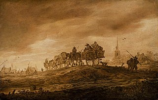 Landscape with Two Horsecarts