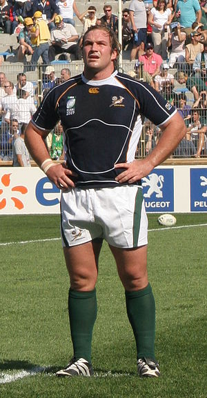 Jannie du Plessis - South Africa vs Fiji during 2007 Rugby World Cup