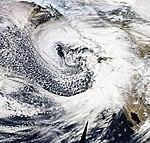 January 2008 North American Superstorm at peak intensity.jpg