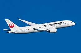 Japan Airlines, JA845J, Boeing 787-8 (24275696867).jpg