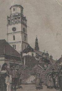Jasnogórska wieża w latach 1900-1906 (po pożarze)