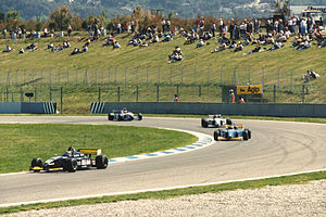 Jason Watt - Jason Watt driving for Den Blå Avis (Super Nova Racing) during the Formula 3000 race at the Circuit de Catalunya in 1998.