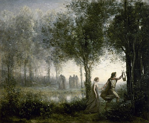 Jean-Baptiste-Camille Corot - Orpheus Leading Eurydice from the Underworld - Google Art Project
