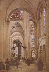 Inneres der Kathedrale von Sens