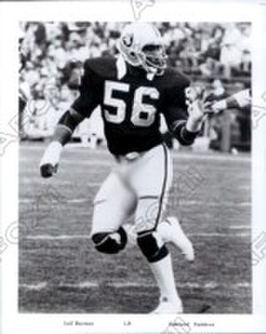 Jeff Barnes - Barnes playing for the Raiders in 1979