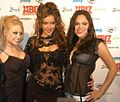 Jesse Jane, Sophia Santi, Shay Jordan at the 2007 XBiz Awards.jpg