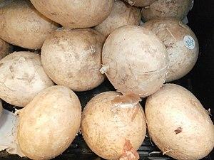 Jicama in a bin