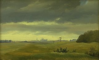 A View of Frederiksborg from Hestehaven