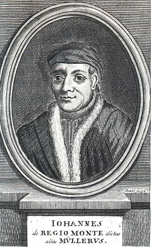 Regiomontanus - 18th-century portrait (Iohannes de Regio Monte dictus alias Müllerus)