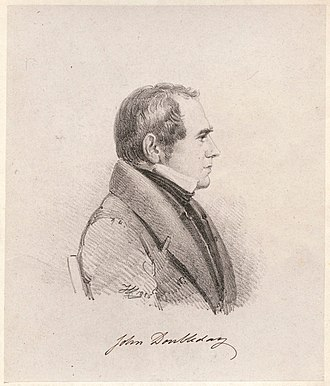 John Doubleday (restorer) - 1836 lithograph of Doubleday, by Henry Corbould