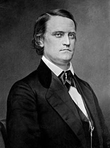 Black and white portrait of John C. Breckinridge, middle-aged, dark hair
