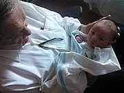 John J Creedon with his 10th grandchild Zara- 2014-07-07 01-26