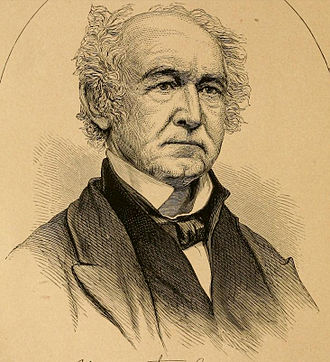 John L. Helm - Engraving of Helm in later life.