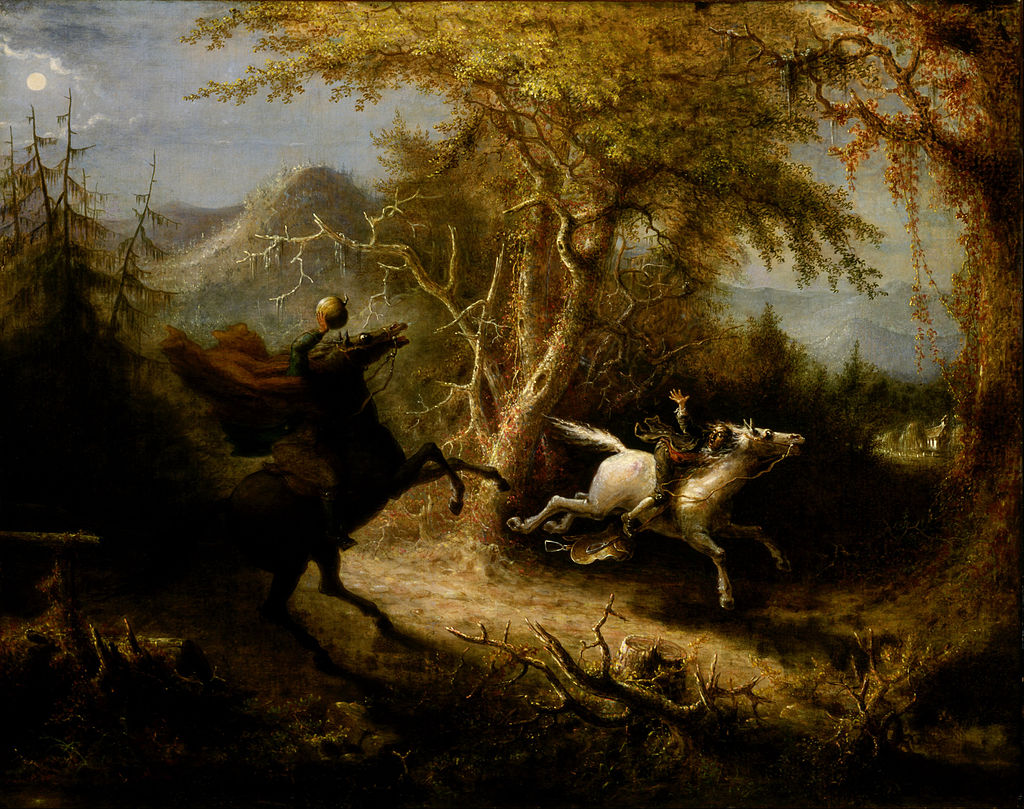 """The Headless Horseman Pursuing Ichabod Crane"" by John Quidor"