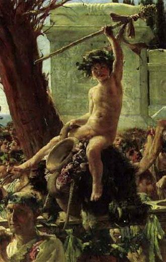 Thyrsus - Image: John Reinhard Weguelin – Bacchus Triumphant (1882)