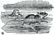 Рисунок Алиса купается в бассейне слез