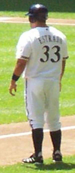 Johnny Estrada - Estrada during his time with the Brewers