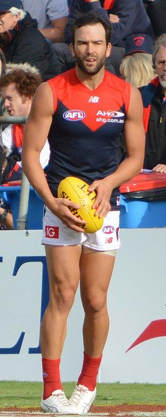 Jordan Lewis - Jordan Lewis playing for Melbourne in the 2017 pre-season series