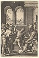 Joseph explains his dream to his brothers and father in an interior setting; the sun, moon, and stars above a landscape in the portal beyond, from the series 'The Story of Joseph' MET DP828520.jpg