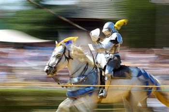 Jousting at the Maryland Renaissance Festival.