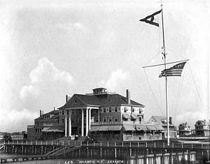 Stanford White - Clubhouse of the Atlantic Yacht Club at Seagate, Brooklyn, as it appeared in the 1890s. Photo by John S. Johnston