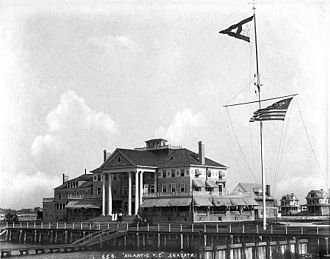 Sea Gate, Brooklyn - The Atlantic Yacht Club building, which burned down in 1933