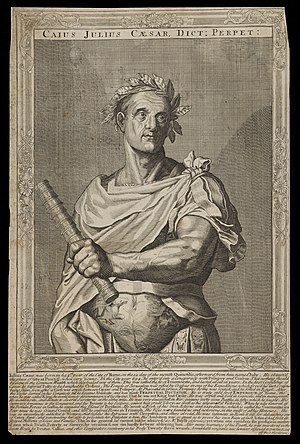 Eleven Caesars - Image: Julius Caesar. Line engraving, after A. Sadeler Wellcome L0049801