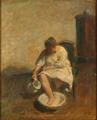 Julius Paulsen - Ung kvinde vasker sine fødder.png
