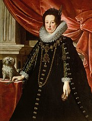 Portrait of Anna de' Medici (1616-1676), Archduchess with her Lapdog