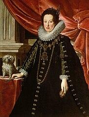 Portrait of Anna de' Medici (1616-1676), Archduchess with her Lapdog