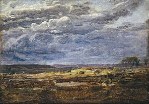 Dankvart Dreyer - Heath landscape in Jutland, nascent storm, c. 1839.