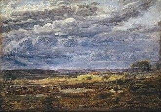 Dankvart Dreyer - Heath landscape in Jutland, nascent storm, c. 1839.