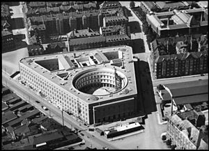 Copenhagen Police Headquarters - The building under construction, c. 1922